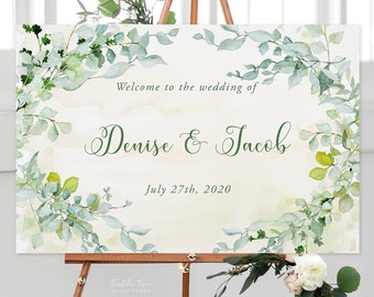 Welcome Sign/Design & Printing or Printable File - Garden Dreams (Style 13828)