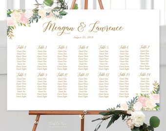 Seating Chart/Design & Printing or Printable File - Blush and Bloom (Style 13870)