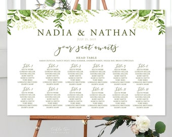 Seating Chart/Design & Printing or Printable File - Whispering Garden (Style 13799)
