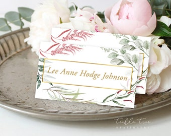 Day of Details - Place Cards/Design & Printing - Botanical Garden (Style 13910)