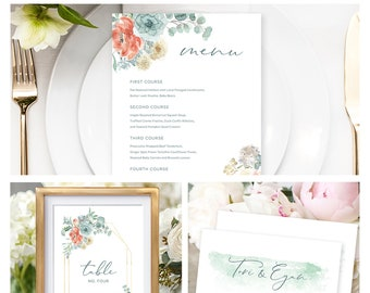 Reception Stationery Package (DEPOSIT) - Serene (Style 13895)