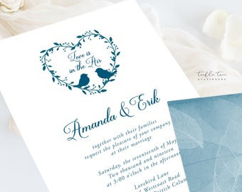 Wedding Invitations (DEPOSIT) - Love is In the Air (Style 13519)