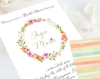 Wedding Invitations (DEPOSIT) - Wildflower (Style 13513)