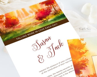 Wedding Invitations (DEPOSIT) - Fallen for You (Style 13562)