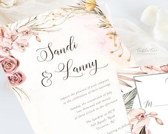 Wedding Invitation Suite/Design & Printing - Celebrating Romance (Style 13977)