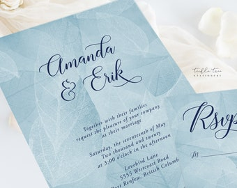 Wedding Invitation Suite/Design & Printing - West Coast Whisper (Style 13934)
