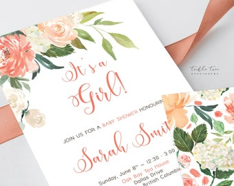 Printed Baby Shower Invitations - What a Peach (Style 13923)