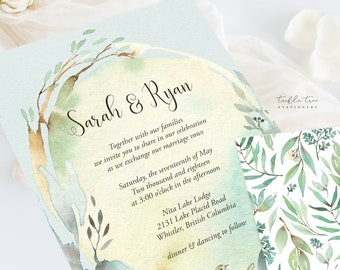 Wedding Invitation Suite/Design & Printing - Nature's Dreamers (Style 13821)