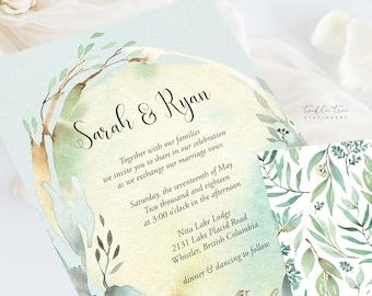 Wedding Invitations (DEPOSIT) - Nature's Dreamers (Style 13821)