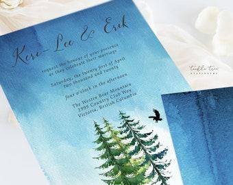 Wedding Invitation Suite/Design & Printing - Makwa River/Bear Spirit (Style 13518)