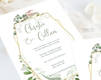 Wedding Invitation Suite/Design & Printing - Botanical Garden (Style 13910)