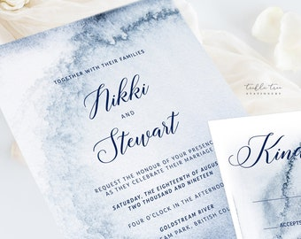 Wedding Invitation Suite/Design & Printing - Whistler Winds (Style 13760)