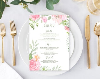 Day of Details - Menus/Design & Printing - Summer Bloom (Style 13896)