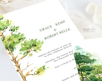 Wedding Invitation Suite/Design & Printing - Forest Dreams (Style 13777)