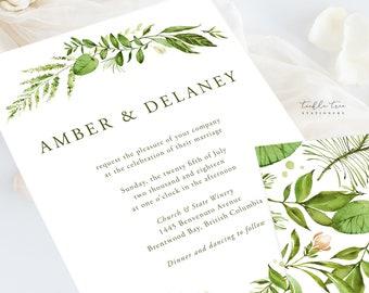 Wedding Invitation Suite/Design & Printing - Whispering Garden (Style 13799)