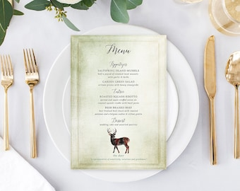 Day of Details - Menus/Design & Printing - Rustic Woods (Style 13768)