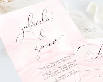 Wedding Invitations (DEPOSIT) - Wings of Love (Style 13743)