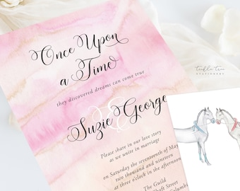 Wedding Invitation Suite/Design & Printing - Once Upon A Time (Style 13671)