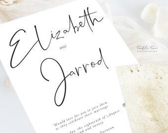 Wedding Invitations (DEPOSIT) - Simple Greenery (Style 13951)