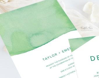 Wedding Invitations (DEPOSIT) - Rainforest Paint Dip (Style 13968)