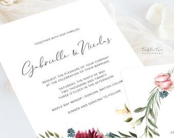 Wedding Invitation Suite/Design & Printing - Boho Garden (Style 13981)