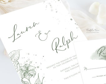 Wedding Invitations (DEPOSIT) - Morning Meadow (Style 13903)