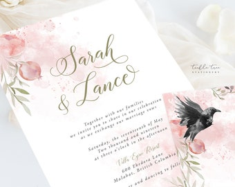 Wedding Invitation Suite/Design & Printing - Mystic Garden (Style 13830)