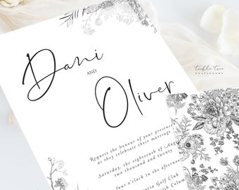 Wedding Invitations/Invitation Suites - Modern & Vintage Elegance (Style 13950)