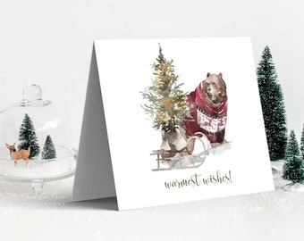 Holiday Greeting Card Set - A Westcoast Winter (Style 13993)