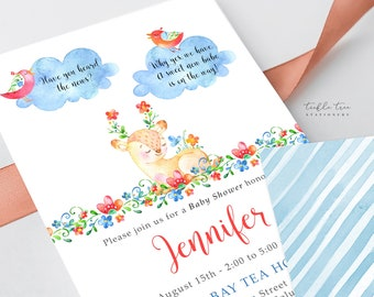 Printed Baby Shower Invitations - Have You Heard the Word? (Style 13742)