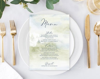 Day Of Details - Menus/Design & Printing - Morning Forest (Style 13774)