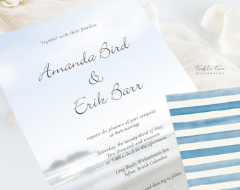 Wedding Invitation Suite/Design & Printing - Long Beach (Style 13183)