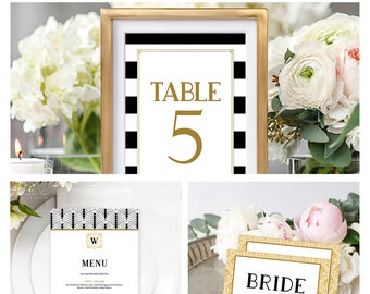 Reception Stationery Package (DEPOSIT) - The Great Gatsby (Style 13876)