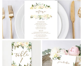 Reception Stationery Package (DEPOSIT) - White Summer (Style 13816)