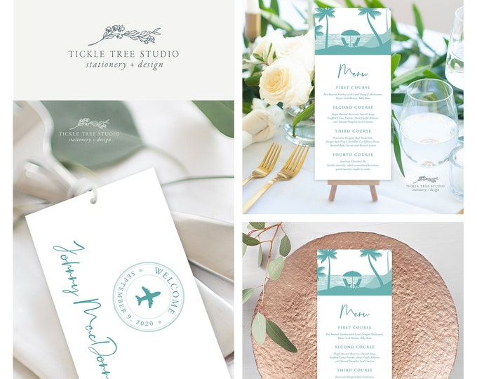 Come Fly with Us Destination Wedding (Style 13884) - Day of Stationery Deposit