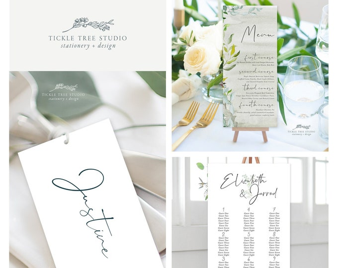 Simple Greenery (Style 13951) - Day of Stationery Deposit