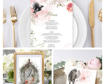 Reception Stationery Package (DEPOSIT) - Dreamy Garden (Style 13830)