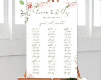Seating Chart/Design & Printing or Printable File - Mystic Garden (Style 13830)