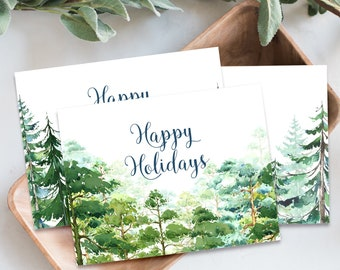 Christmas Forest (S-13003) - Holiday Greeting Cards (Printed or Digital)