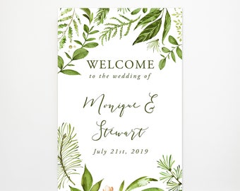Reception Sign/Welcome - Whispering Garden (Style 13799)