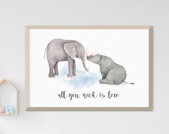 Child's Room/Nursery Art: Love & Friendship (Style 14020)