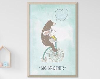 Child's Room/Nursery Art: Big Brother (Style 14004)