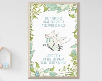 Child's Room/Nursery Art: Butterfly Flight (Style 14003)