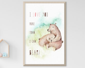 Child's Room/Nursery Art: More Than I Can Bear (Style 14014)