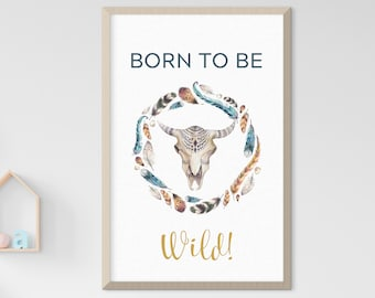 Child's Room/Nursery Art - Born to be Wild (Style 14018)