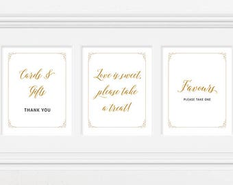 Reception Signs/Various - Gold Scroll Frame