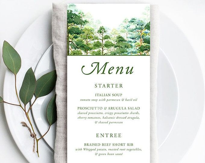 Menus - Forest Dreams (Style 13777)