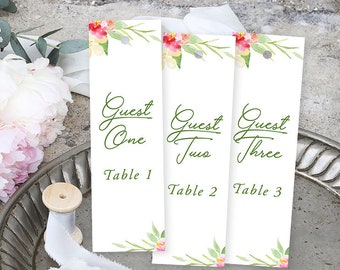 Seating Chart Bookmarks