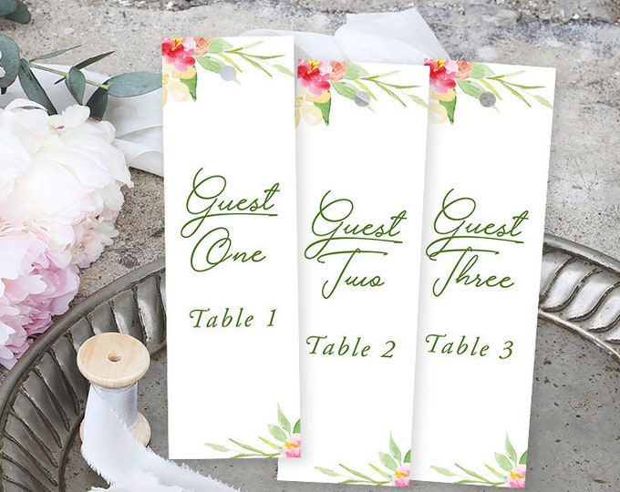 Bookmark Favours, Seating Cards, Escort Cards - Flower Market (Style 13850)
