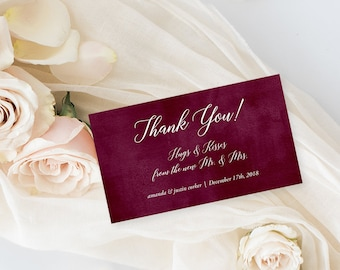 Favour Tags, Gift Tags, Place Cards - Burgundy & Blush (Style 13853)